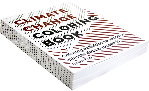 Climate Change Coloring Book stack
